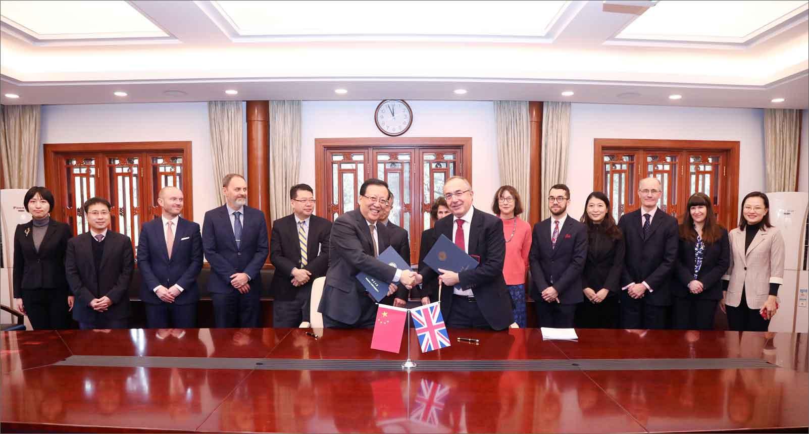 伦敦大学学院校长麦克·阿瑟访问北京大学