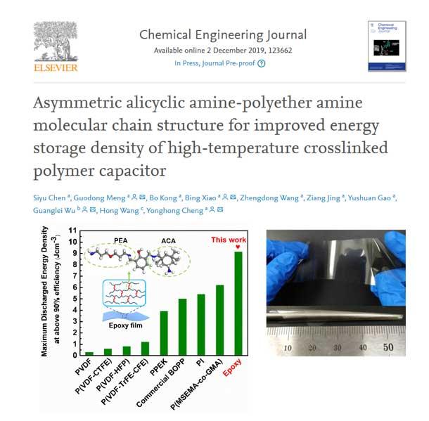 西安交大科研人员在高温有机薄膜电容介质材料研究领域取得重要进展