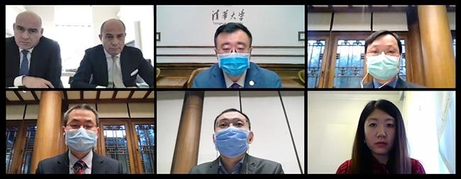 清华大学副校长杨斌与米兰理工大学校长费卢奇奥·内斯塔视频连线
