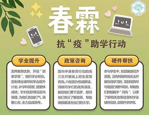 """清华南大浙大上交西交武大六校联合发起:""""春霖""""抗疫助学行动"""