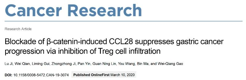 上海交大高维强、马斌科研团队提出胃癌免疫治疗新思路