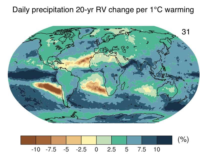 北京大学聂绩课题组于PNAS上发文 阐明全球变暖下极端降雨响应的区域特征