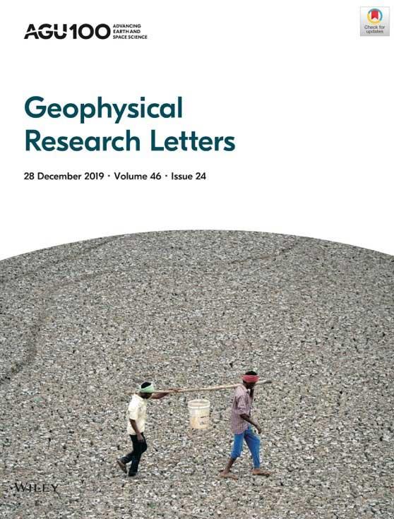 复旦大学大气与海洋科学系科研团队研究成果作为《地球物理研究快报》封面文章发表